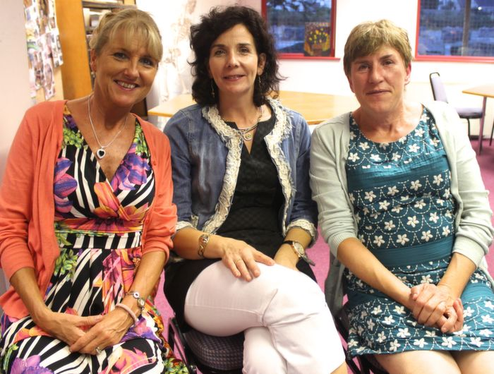 Course teachers Aileen Quigley, Donna O'Brien and Catherine O'Sullivan who attended the annual VTOS awards ceremony on Thursday evening. Photo by Dermot Crean