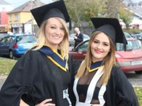 Shannon O'Sullivan and Chloe O'Halloran, both from Tralee, graduated Health and Leisure. Photo by Gavin O'Connor.