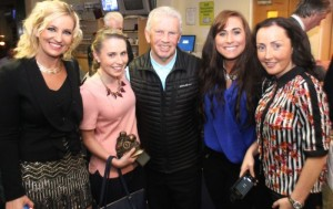 Members of the Tralee Dynamos ladies team with John Giles were, from left: Noelle O'Brian, Carina Slattery, Niambh O'Connor and Breda Slattery. Photo by Gavin O'Connor.