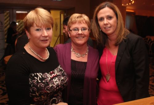 Noreen O'Callaghan, Lixnaw, Catherine Carey, Causeway and Bernadette Martin, Ballyduff at the 'Take Me Out' night in aid of Ballyduff Buds Family Resource Centre at Ballyroe Heights Hotel. Photo by Dermot Crean