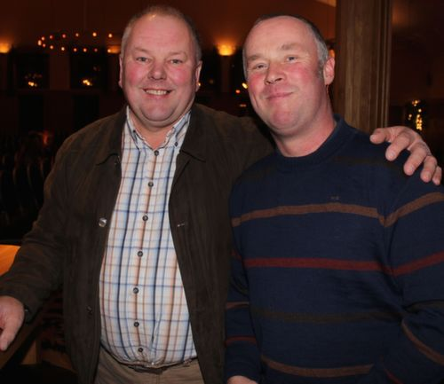 Paddy Lucid and Shane Guerin at the 'Take Me Out' night in aid of Ballyduff Buds Family Resource Centre at Ballyroe Heights Hotel. Photo by Dermot Crean