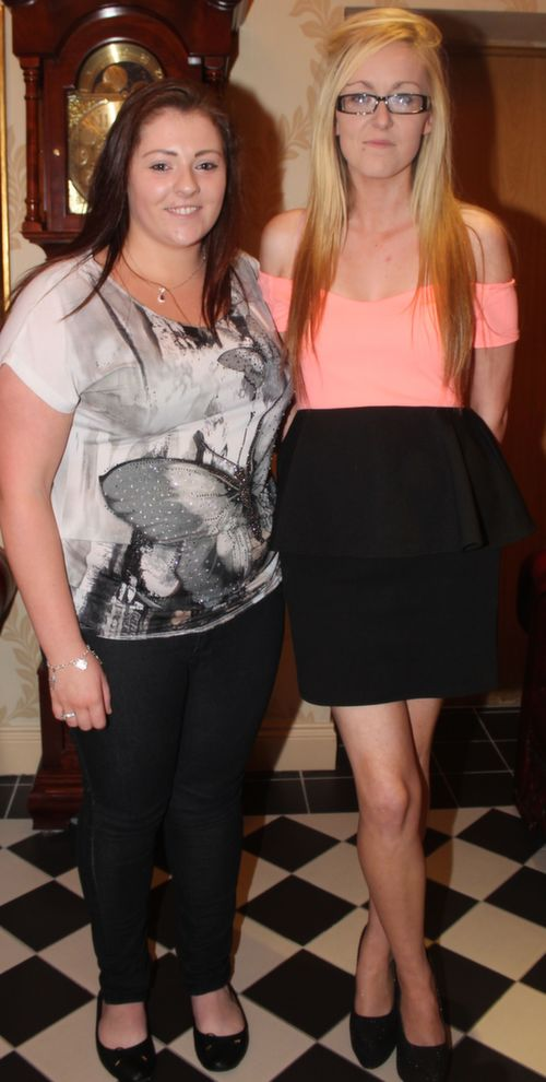 Sarah O'Connor and Aisling Shanahan, Lixnaw at the 'Take Me Out' night in aid of Ballyduff Buds Family Resource Centre at Ballyroe Heights Hotel. Photo by Dermot Crean