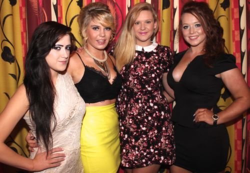 Amanda Griffin, Megan O'Connor, April O'Rourke and Michaela Kavanagh, Ballyduff at the 'Take Me Out' night in aid of Ballyduff Buds Family Resource Centre at Ballyroe Heights Hotel. Photo by Dermot Crean