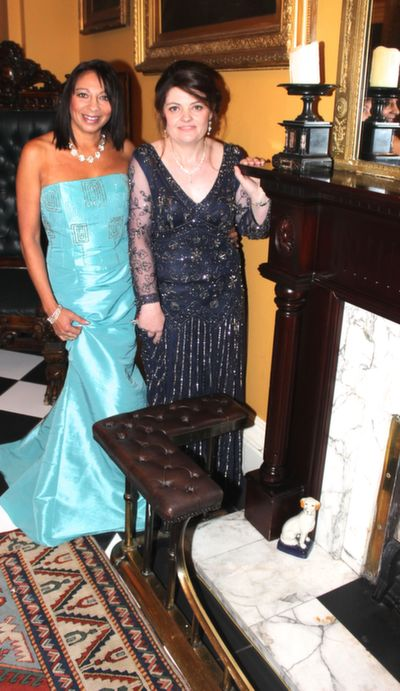 Noreen Moriarty and Mary Fleming at the Rotary Club Gala Ball in Ballyseede Castle Hotel on Friday  night. Photo by Dermot Crean