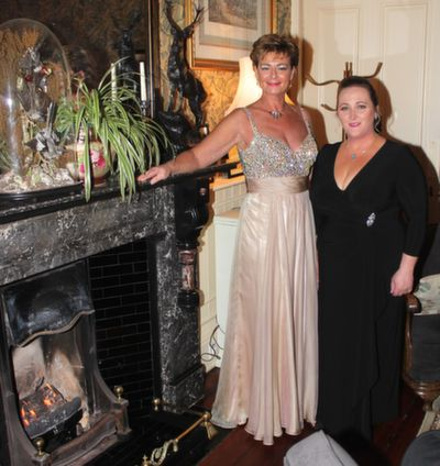 Olivia Wall and Georgina Maher at the Rotary Club Gala Ball in Ballyseede Castle Hotel on Friday  night. Photo by Dermot Crean