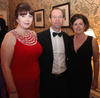 Sharon and Alan Mulgrew and Annemarie Philip at the Rotary Club Gala Ball in Ballyseede Castle Hotel on Friday  night. Photo by Dermot Crean