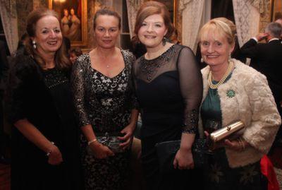 Fionnuala O'Donovan, Lorraine Hopkins, Sharon Scanlan and Cecelia Kelliher at the Rotary Club Gala Ball in Ballyseede Castle Hotel on Friday  night. Photo by Dermot Crean