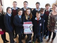 In St Ita's and St Joesph school to launch their fundraiser night in the Kingdom Greyhound Stadium on November 21 were, from left, front row: Grace Sheehan (Principle), Lia Lynch, Breda Quilligan, Nicole O'Sullivan, Daniel Diggins, Martina McElligott, Lindsey Dowling (Teacher). Back row: Dylan Hide, Stephen Buckley, Conor Griffin and  Luke Scollard. Photo by Gavin O'Connor.