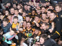 Austin Stack's players and fans celebrate winning the county championship last November. Photo by Dermot Crean.