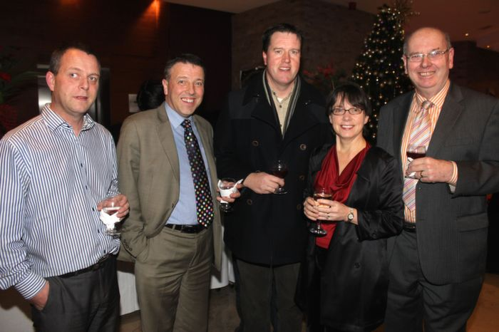 At the Fels point Corporate Night were, from left: Mike Murphy, Declan Sheehan, JJ Bonn, Mary Rose Stafford, Donal Curtin. Photo by Gavin O'Connor.
