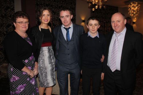 At the Kerry Hurling Awards Night, held in the Fels Point Hotel were, from left: Chrinstina Butler, Anna Hayes, David, Alan and Micheal Butler. Photo by Gavin O'Connor.