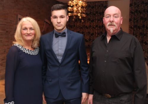 At the Kerry Hurling Awards Night, held in the Fels Point Hotel were, from left: Joan, David and Johnny Silles. Photo by Gavin O'Connor.