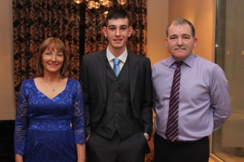 At the Kerry Hurling Awards Night, held in the Fels Point Hotel were, from left: Christina, John and Steven Buckley. Photo by Gavin O'Connor.