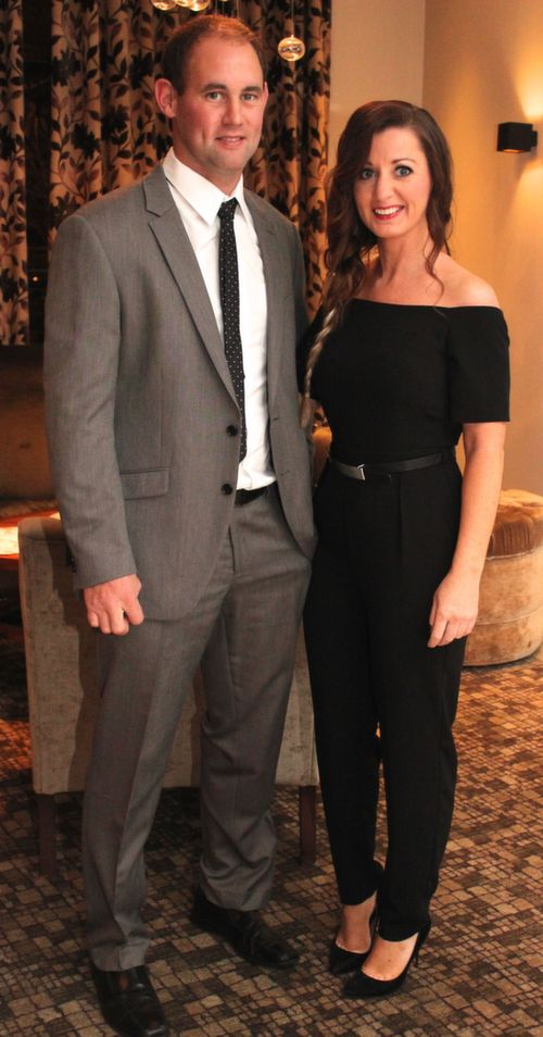 At the Kerry Hurling Awards Night, held in the Fels Point Hotel were, from left: Liam Boyle and Catriona O'Grady. Photo by Gavin O'Connor.