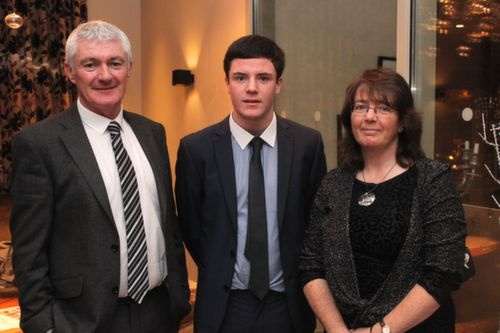 At the Kerry Hurling Awards Night, held in the Fels Point Hotel were, from left: James, Shane and Geraldine Lyne. Photo by Gavin O'Connor.