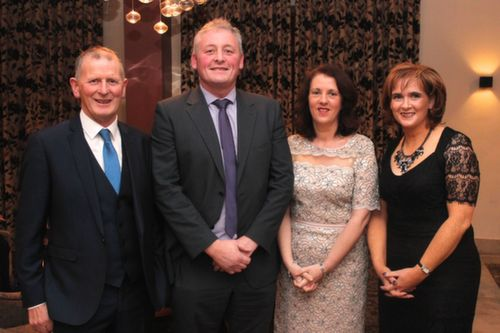 At the Kerry Hurling Awards Night, held in the Fels Point Hotel were, from left: Paidi Dineen, Tom O'Connell, Anne O'Connell and Mary Kelly. Photo by Gavin O'Connor.