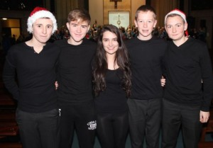 At a Mercy Mounthawk Christmas Carol on in St Brendan's Church were, from left: Quinn O'Halloran, Tom Crowley, Amy Shalvey, Eoin McElligott and Micheal Walsh. Photo by Gavin O'Connor.