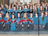 The school choir at the Mercy Mounthawk Christmas Carol on in St Brendan's Church. Photo by Gavin O'Connor.