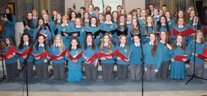 The school choir at the Mercy Mounthawk Christmas Carol on in St Brendan's Church. Photo by Gavin O'Connor.