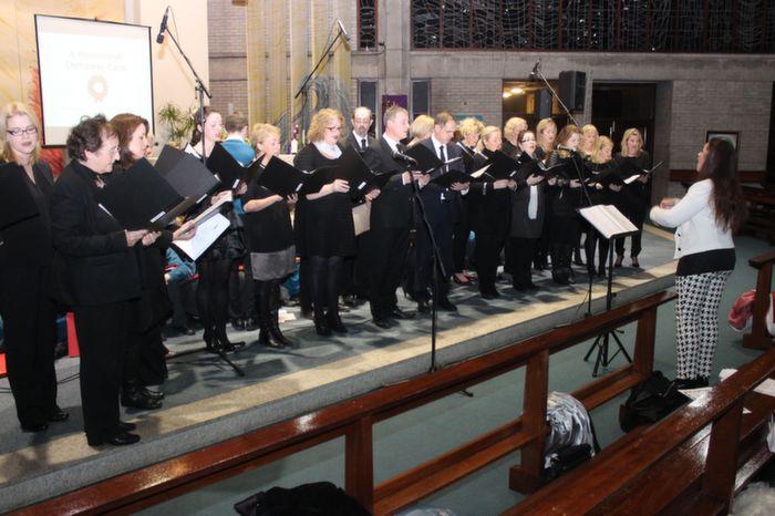 The choir of Mercy Mounthawk teachers perform at the Mercy Mounthawk Christmas Carol on in St Brendan's Church. Photo by Gavin O'Connor.