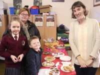 At the Moyderwell Primary School Christmas Craft Fair were from left: Natalie Must, Alicia Must, Jimmy Boy McCarthy and Niamh Griffin. Photo by Gavin O'Connor.