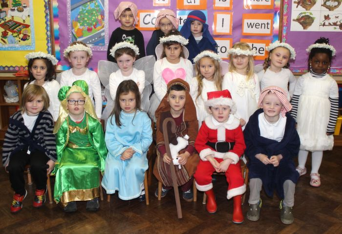 Ms Sarah Daly's junior infants class before the Moyderwell Christmas Concert on Friday morning. Photo by Dermot Crean