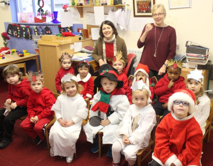 The Little House Montessori children before the Moyderwell Christmas Concert on Friday morning. Photo by Dermot Crean