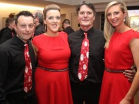 Richard Donnelly, Nora Corridon, Paul Hanrahan and Siobhan Fleming before the start of the St Pat's GAA Strictly Come Dancing night in the Ballyroe Heights Hotel on Friday night. Photo by Dermot Crean