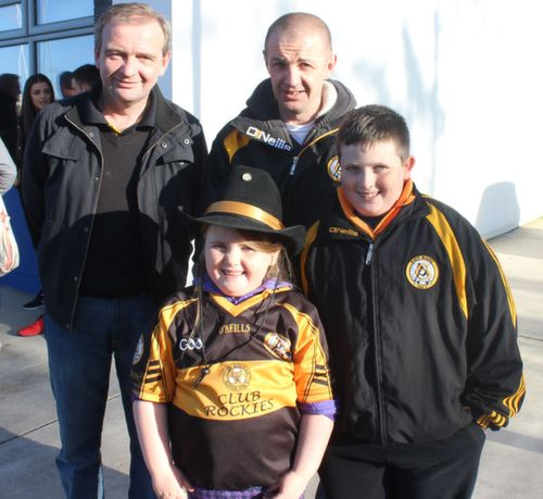 John and Michael Murphy with Ashling and Matthew Browne  at the Cork Constitution Rugby Club prior to the match on Sunday. Photo by Dermot  Crean