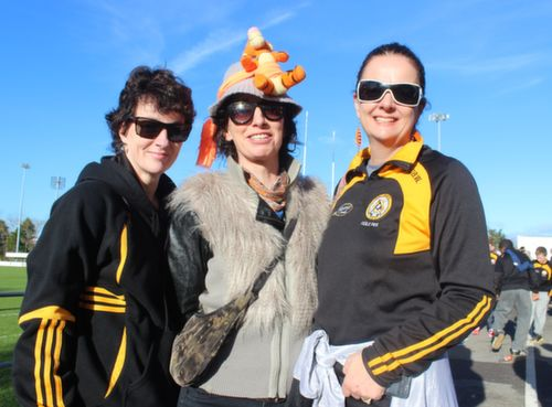 Marina, Sarah and Ann Barry  at the Cork Constitution Rugby Club prior to the match on Sunday. Photo by Dermot  Crean