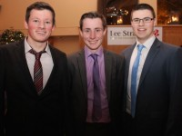 Merit Awards winners, Connor O'Donoghue, Sean Dowling and Gavin Connolly at the Lee Strand/Kerry Garda Youth Achievement Awards 2014 in the Ballyroe Heights Hotel last night. Photo by Dermot Crean