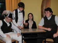 Mercy Mounthawk students who will perform the play 'The Plough and the Stars' are, from left: Andrew Breewood, Killian O'Regan, Clodagh Harrington and Ciaran Ryan. Photo by Gavin O'Connor.