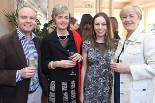 Niall Lucey, Norma McElligott, Sarah and Marie O'Shea at the Austin Stacks GAA Corporate Lunch Fundraiser at the Ballygarry House Hotel on Friday. Photo by Dermot Crean