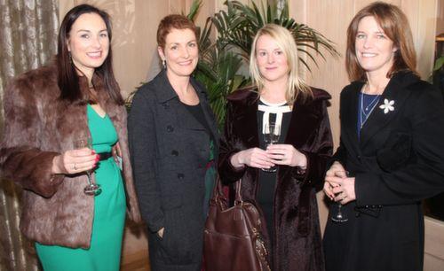 Marie Loughran, Catherine Duggan, Sandrine Brassil and Sharon McGillycuddy at the Austin Stacks GAA Corporate Lunch Fundraiser at the Ballygarry House Hotel on Friday. Photo by Dermot Crean