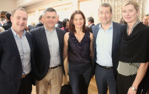 Niall Healy, Kieran and Una Lynch, Donal and Caroline Sugrue at the Austin Stacks GAA Corporate Lunch Fundraiser at the Ballygarry House Hotel on Friday. Photo by Dermot Crean