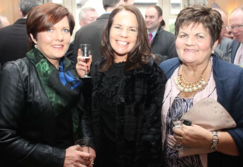 Marian Lyons, Fiona Leahy and Eleanor Kelliher at the Austin Stacks GAA Corporate Lunch Fundraiser at the Ballygarry House Hotel on Friday. Photo by Dermot Crean