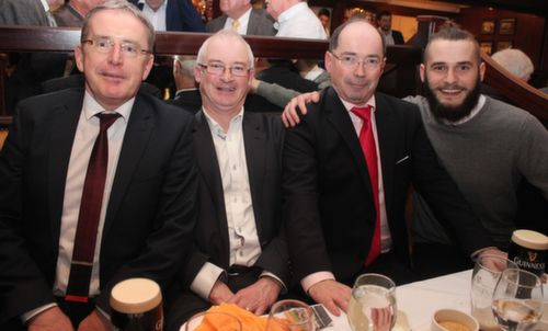 Tommy O'Regan, Joe Rogers, Michael Hickey and Michael O'Regan at the Austin Stacks GAA Corporate Lunch Fundraiser at the Ballygarry House Hotel on Friday. Photo by Dermot Crean