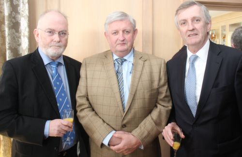 Jerry Finn, Michael and Patrick McElligott at the Austin Stacks GAA Corporate Lunch Fundraiser at the Ballygarry House Hotel on Friday. Photo by Dermot Crean