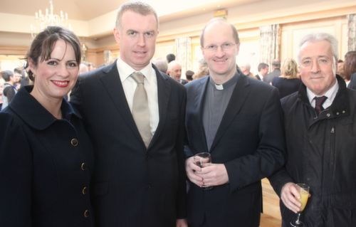 Majella and Morgan O'Connell, Tom O'Brien and Fr Padraig Walsh at the Austin Stacks GAA Corporate Lunch Fundraiser at the Ballygarry House Hotel on Friday. Photo by Dermot Crean