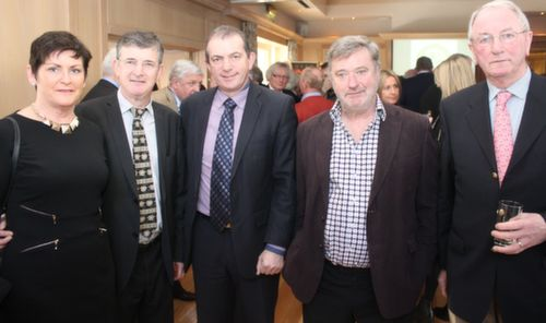 Oonagh and Anthony O'Gara, Kevin McCarthy, John Reen and Eugene O'Callaghan at the Austin Stacks GAA Corporate Lunch Fundraiser at the Ballygarry House Hotel on Friday. Photo by Dermot Crean