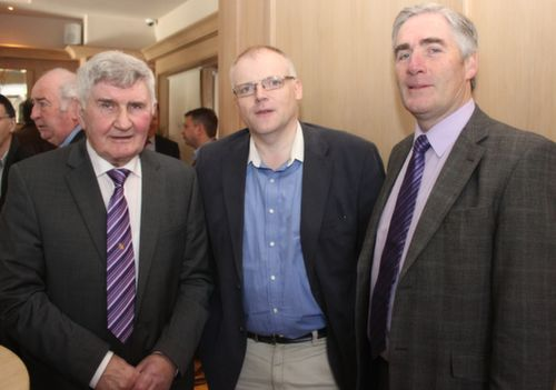 Mick O'Dwyer, Kevin Finn and Mick Coote at the Austin Stacks GAA Corporate Lunch Fundraiser at the Ballygarry House Hotel on Friday. Photo by Dermot Crean