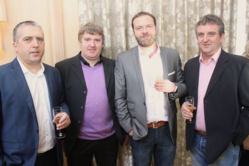 Kieran Kelliher, Tommy O'Connor, Billy O'Lehane and Eoin Brassil at the Austin Stacks GAA Corporate Lunch Fundraiser at the Ballygarry House Hotel on Friday. Photo by Dermot Crean