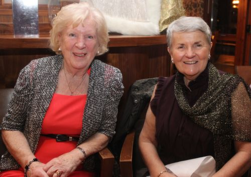 Bridie Cotter and Gemma McElligott at the Fels Point Hotel Women's Christmas Celebration. Photo by Dermot Crean