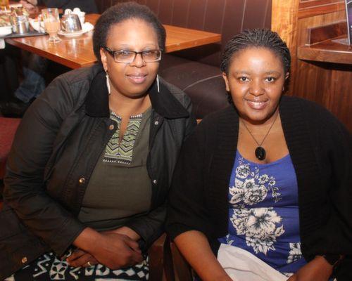 Jacqui Tshikota and Logugu Mafu at the Fels Point Hotel Women's Christmas Celebration. Photo by Dermot Crean