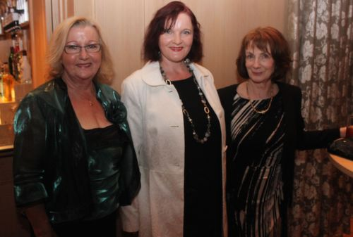 Mary O'Connor, Jacqui Reidy and Angela O'Sullivan at the Ballygarry House Hotel Women's Christmas Celebration. Photo by Dermot Crean