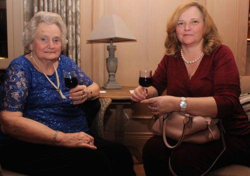 Joyce Chapman and Ann Falvey at the Ballygarry House Hotel Women's Christmas Celebration. Photo by Dermot Crean