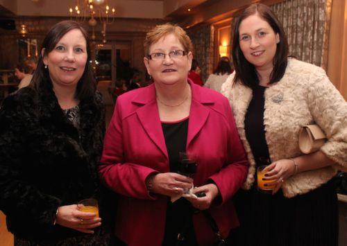 Eileen Barton, Breda Horgan and Mary Horgan at the Ballygarry House Hotel Women's Christmas Celebration. Photo by Dermot Crean