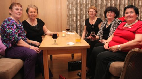 Kathleen McMullan, Kitty Morrissey, Mary McCarthy, Teresa Lehane and Kay Long at the Ballygarry House Hotel Women's Christmas Celebration. Photo by Dermot Crean