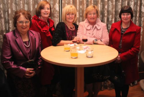 Renee Tangney, Catherine Walsh, Marie Walsh, Margaret Kennedy and Mary O'Connor at the Ballygarry House Hotel Women's Christmas Celebration. Photo by Dermot Crean