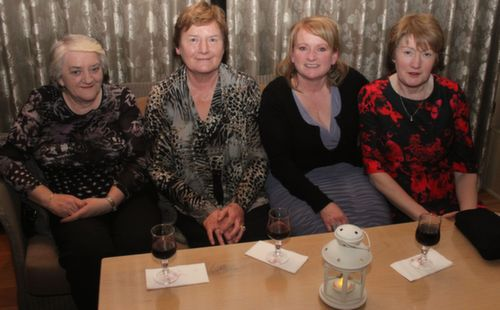 Phil Moriarty, Mary Shanahan, Geraldine O'Sullivan and Betty Carmody at the Ballygarry House Hotel Women's Christmas Celebration. Photo by Dermot Crean